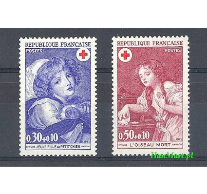 Znaczek Francja 1971 Mi 1777-1778 Czyste **