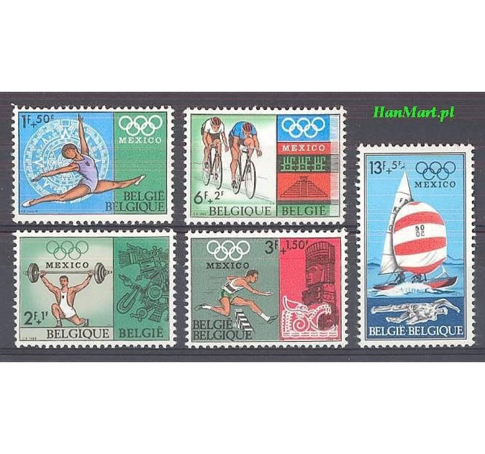 Belgia 1968 Mi 1513-1517 Czyste **