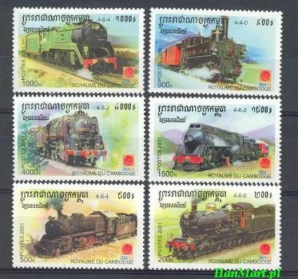 Znaczek Kambodza 2001 Mi 2211-2216 Czyste **