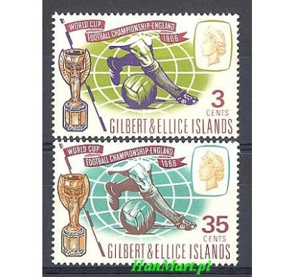 Znaczek Gilbert Ellice Islands 1966 Mi 120-121 Czyste **