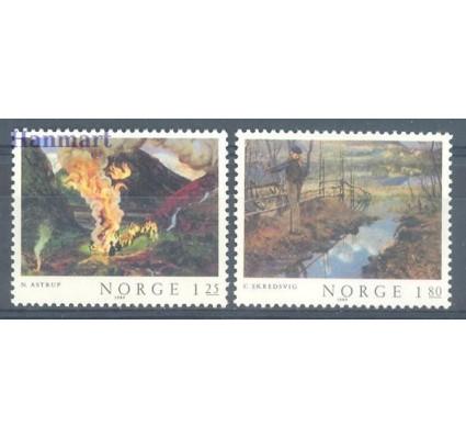 Znaczek Norwegia 1980 Mi 823-824 Czyste **