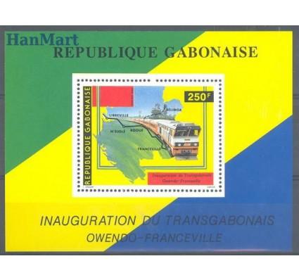 Znaczek Gabon 1986 Mi bl 55 Czyste **