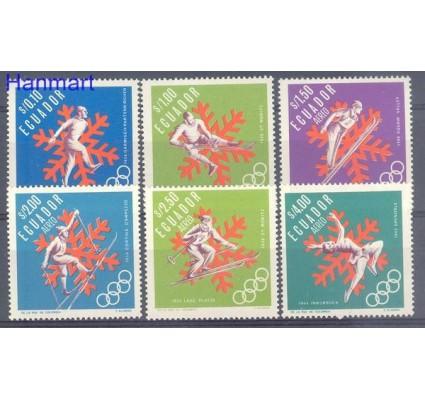 Znaczek Ekwador 1966 Mi 1274-1279 Czyste **