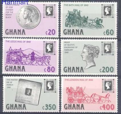 Znaczek Ghana 1990 Mi 1374-1379 Czyste **