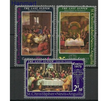 Znaczek St. Christopher Nevis Anguilla 1973 Mi 255-257 Czyste **