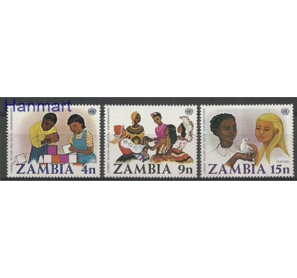 Znaczek Zambia 1977 Mi 186-188 Czyste **