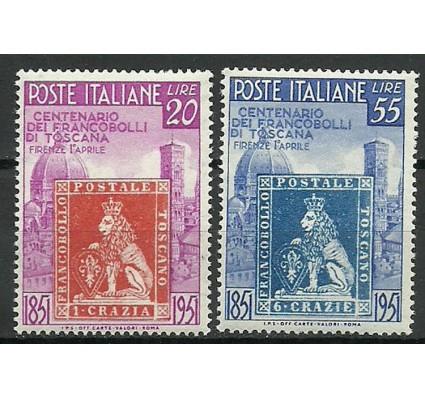 Znaczek Włochy 1951 Mi 826-827 Z podlepką *