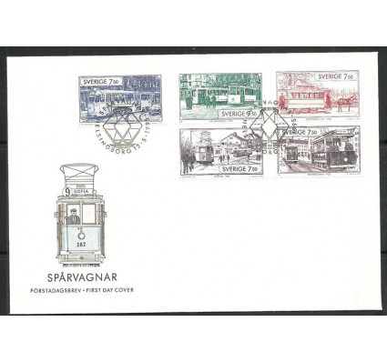 Znaczek Szwecja 1995 Mi 1890-91+92-93+1889 FDC