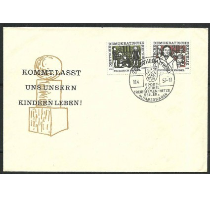 Znaczek NRD / DDR 1957 Mi 564-565 FDC