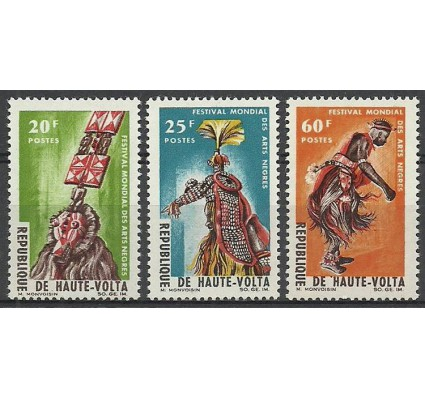 Znaczek Burkina Faso 1966 Mi 182-184 Czyste **