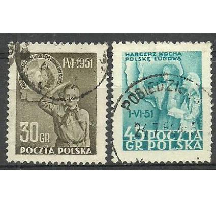 Znaczek Polska 1951 Mi 688-689 Fi 554-555 Stemplowane
