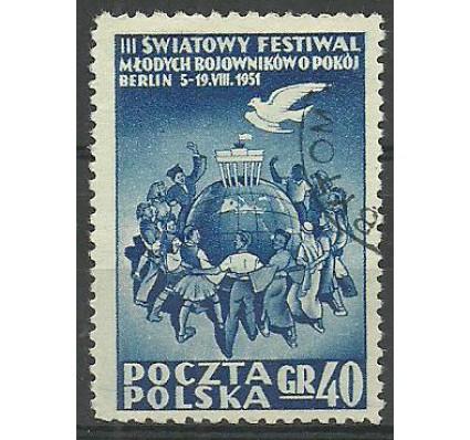 Znaczek Polska 1951 Mi 701 Fi 566 Stemplowane