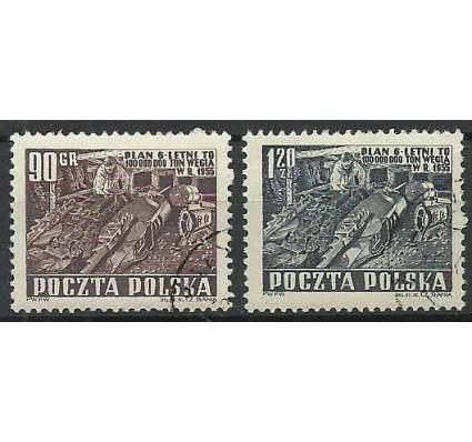 Znaczek Polska 1951 Mi 715-716 Fi 577-578 Stemplowane