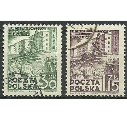 Znaczek Polska 1951 Mi 717C-718A Fi 579-580 Stemplowane