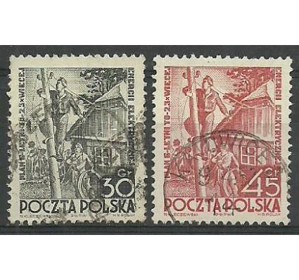 Znaczek Polska 1951 Mi 719-720 Stemplowane