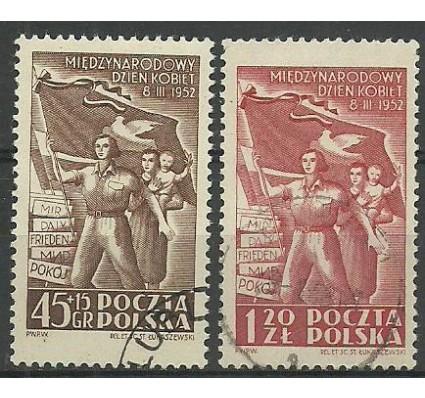 Znaczek Polska 1952 Mi 724-725 Fi 586-587 Stemplowane