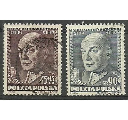 Znaczek Polska 1952 Mi 726-727 Fi 588-589 Stemplowane