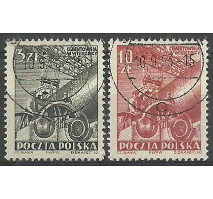 Znaczek Polska 1952 Mi 748-749 Fi 610-611 Stemplowane