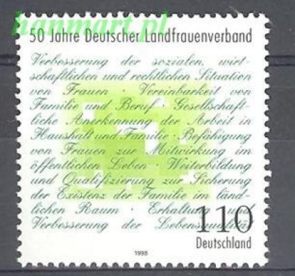 Znaczek Niemcy 1998 Mi 1988 Czyste **