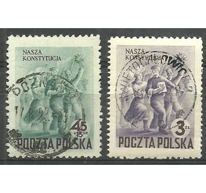 Znaczek Polska 1952 Mi 760-761 Fi 622-623 Stemplowane