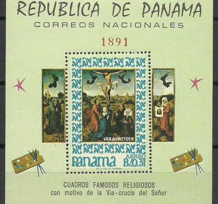 Znaczek Panama 1967 Mi bl 66 Czyste **