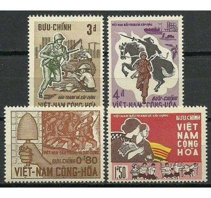 Znaczek Wietnam Południowy 1966 Mi 371-374 Czyste **