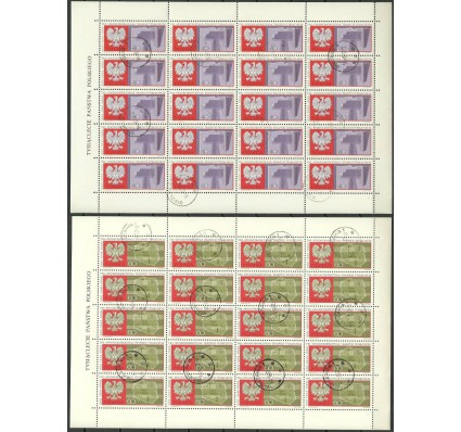 Znaczek Polska 1966 Mi ark 1738-1739 Fi ark 1590-1591 Stemplowane