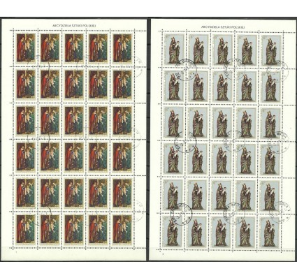 Znaczek Polska 1976 Mi ark 2473-2474 Fi ark 2326-2327 Stemplowane