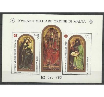 Znaczek Zakon Maltański 1989 Mi bl 27 Czyste **