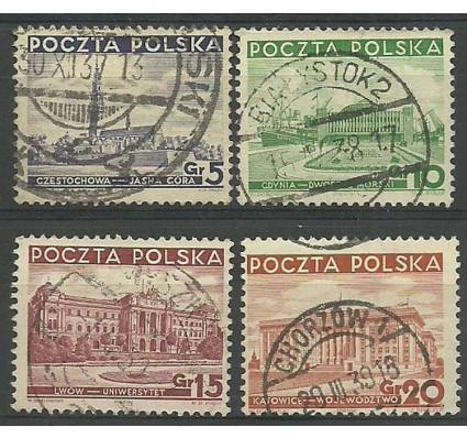 Znaczek Polska 1937 Mi 315-318 Fi 294-297 Stemplowane