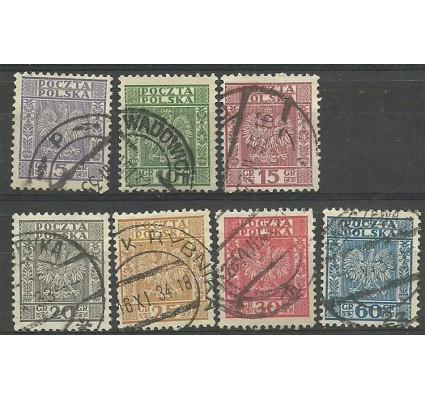 Znaczek Polska 1932 Mi 273-278 Fi 251-257 Stemplowane