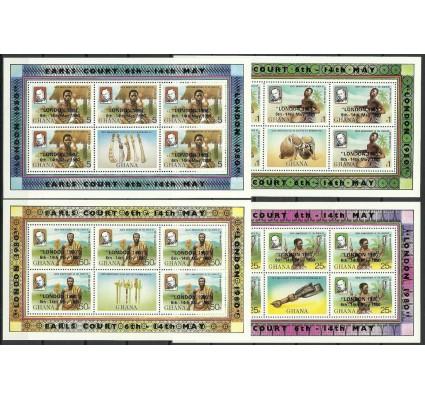Znaczek Ghana 1980 Mi ark 830-833A Czyste **