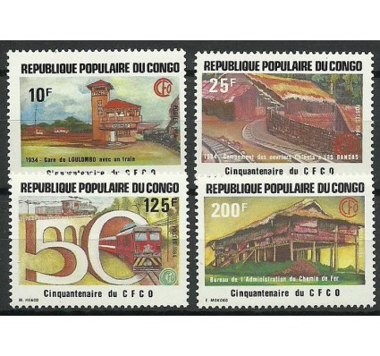 Znaczek Kongo 1984 Mi 959-962 Czyste **