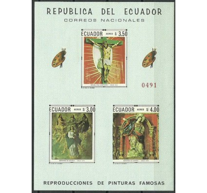 Znaczek Ekwador 1968 Mi bl 48 Czyste **