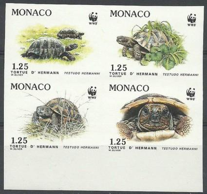 Znaczek Monako 1971 Mi 2046-2049B Czyste **