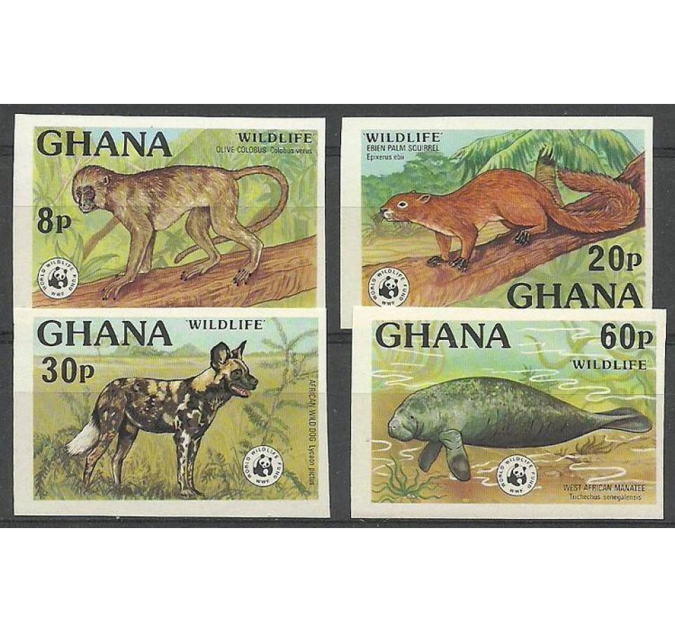 Ghana 1977 Mi 702-705B Czyste **