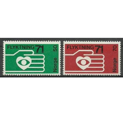Znaczek Norwegia 1971 Mi 623-624 Czyste **
