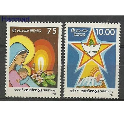Znaczek Sri Lanka 1987 Mi 804-805 Czyste **