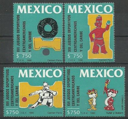 Znaczek Meksyk 1990 Mi 2193-2196 Czyste **