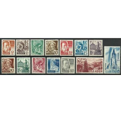 Znaczek Baden / Badenia 1948 Mi 14-27 Czyste **