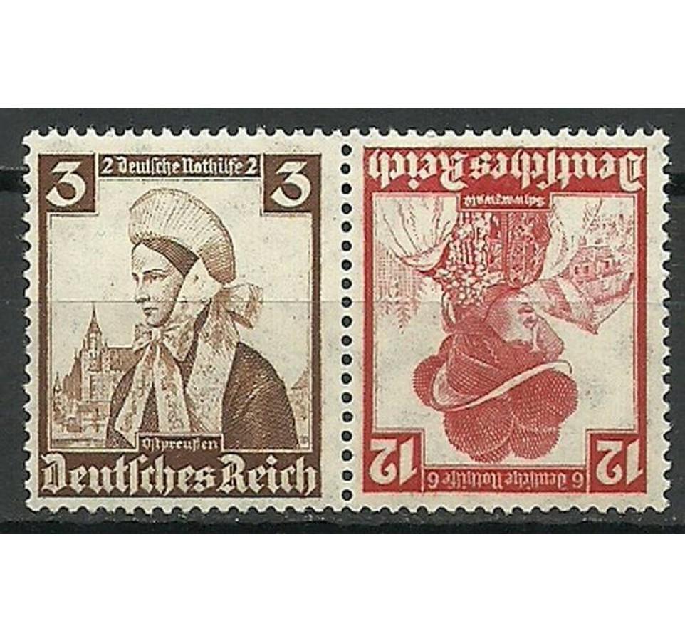 Deutsches Reich / III Rzesza 1935 Mi 588+593 Czyste **