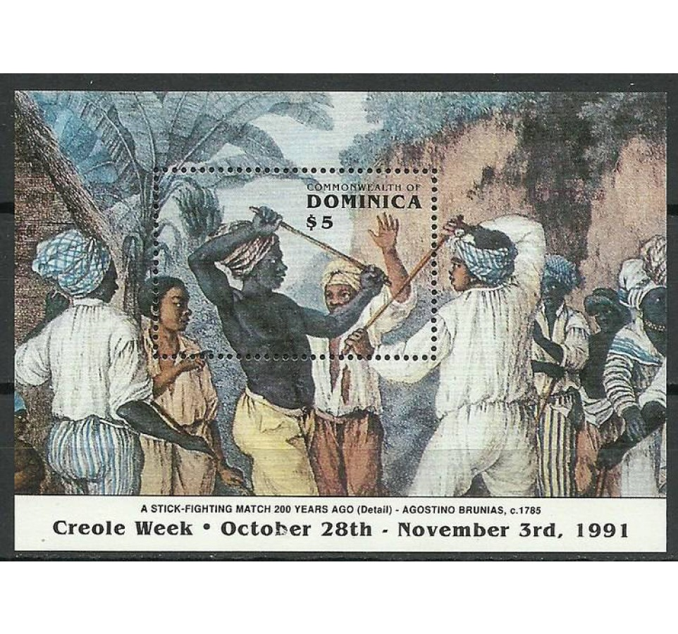 Dominika 1991 Mi bl 195 Czyste **