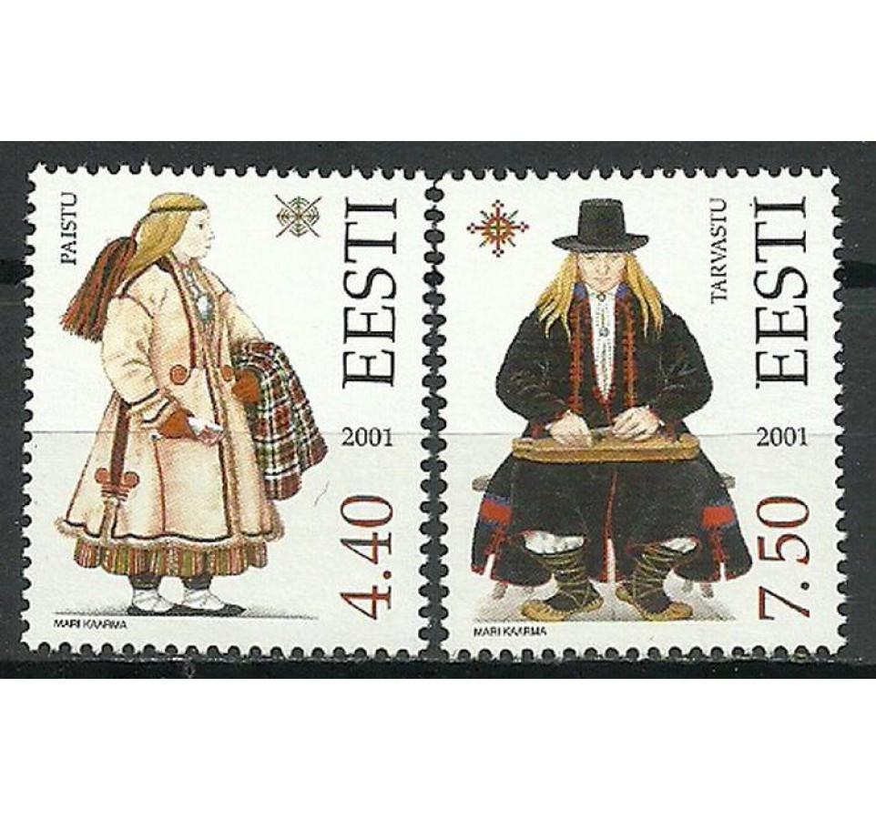Estonia 2001 Mi 421-422 Czyste **