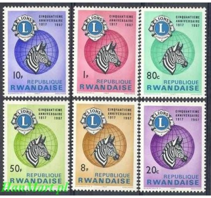 Znaczek Rwanda 1967 Mi 243-248 Czyste **