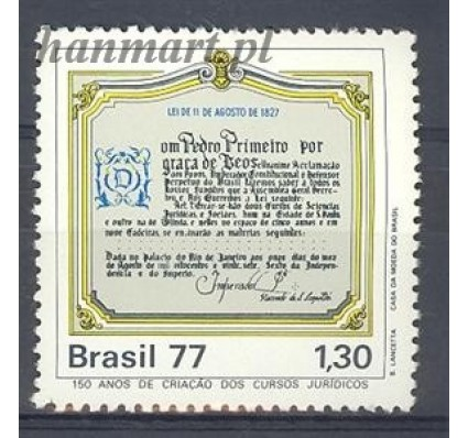Znaczek Brazylia 1977 Mi 1610 Czyste **