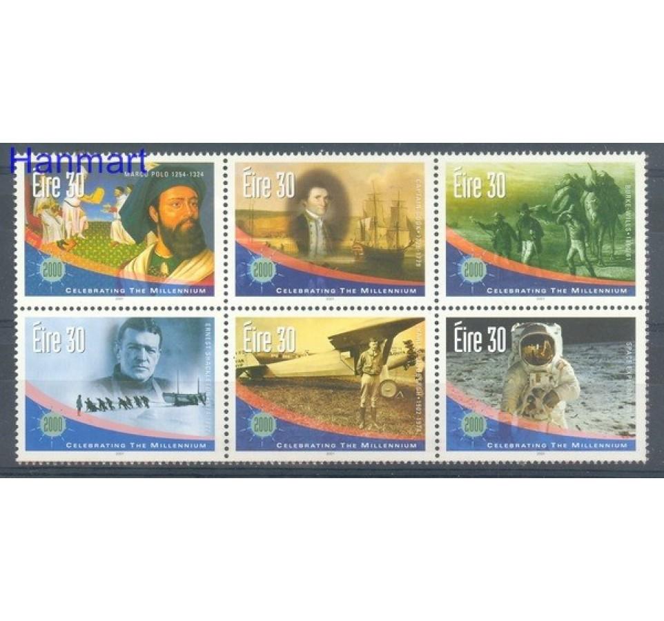 Irlandia 2001 Mi 1298-1303 Czyste **