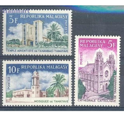Znaczek Madagaskar 1967 Mi 562-564 Czyste **