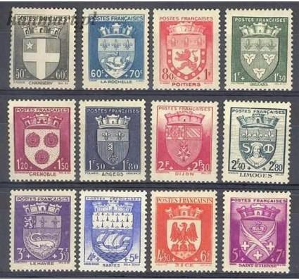 Francja 1942 Mi 564-575 Z podlepką *