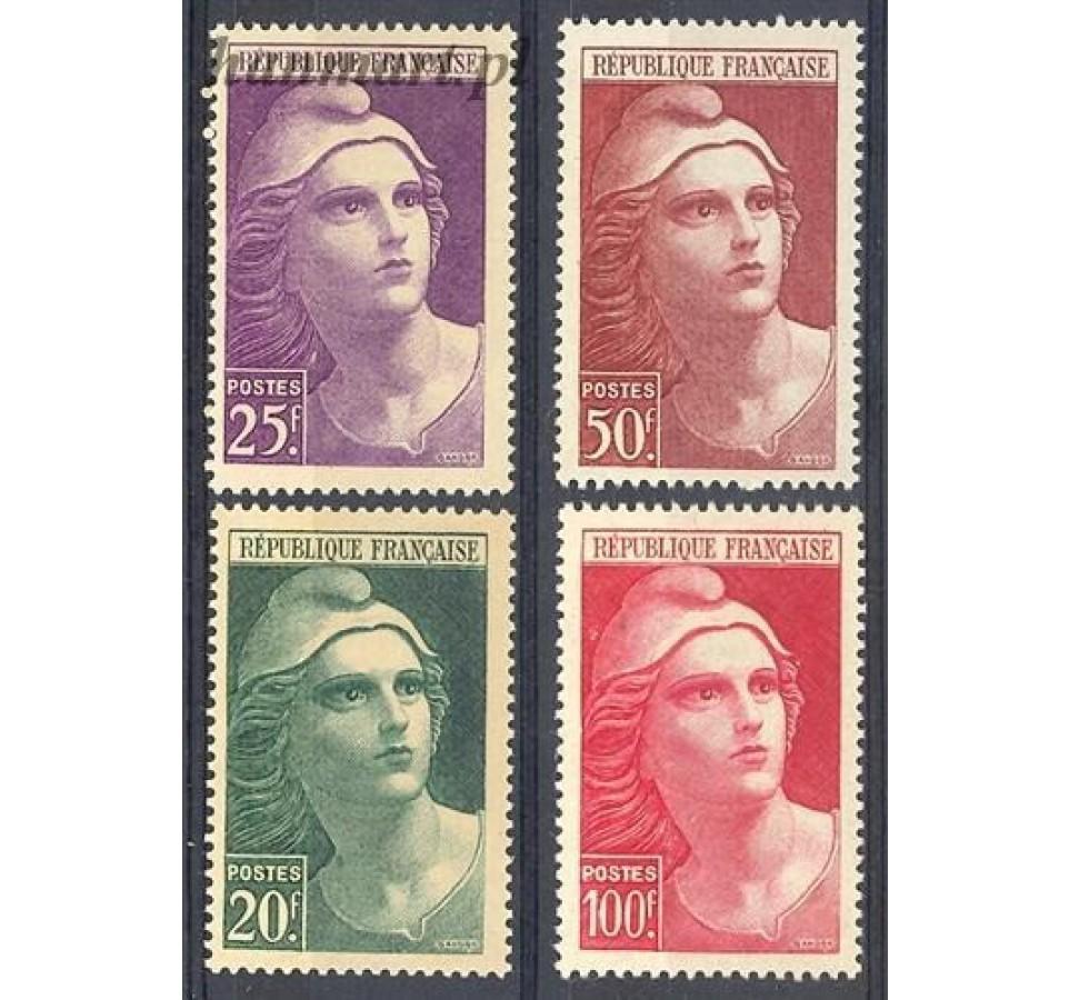 Francja 1945 Mi 703-706 Czyste **