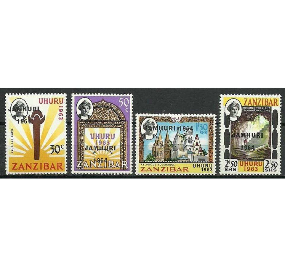 Zanzibar 1964 Mi 297-300 Czyste **